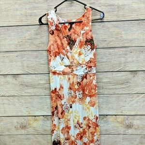 Soma Maxi Sundress Size S Orange White